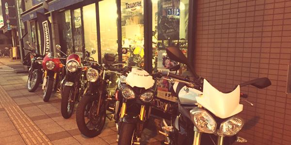 バイク屋で仲間探し